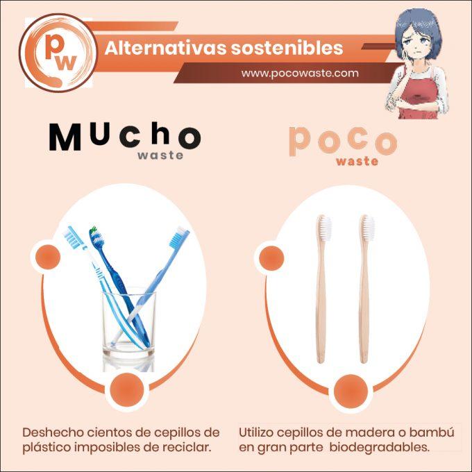 cepillos de plástico vs cepillos de bambú