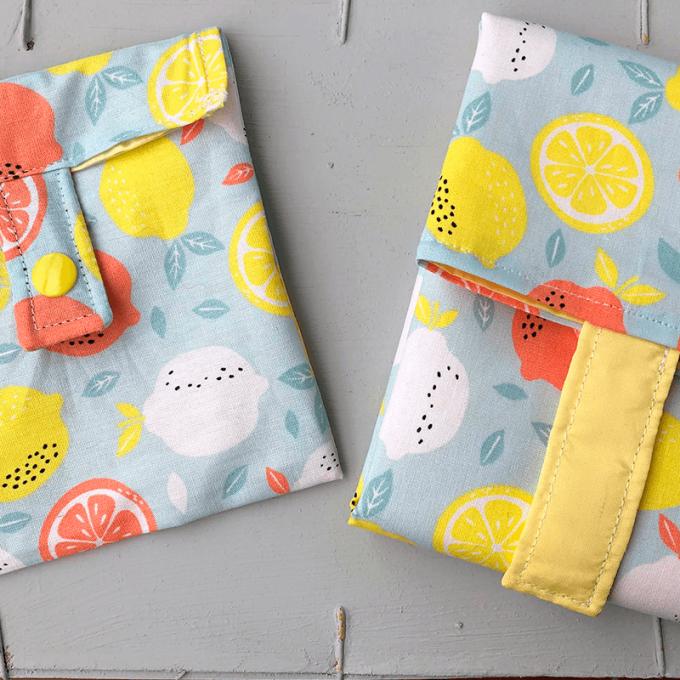 Portabocadillos hechos de algodón a mano con bonitos diseños